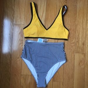 CupShe 2piece High Waisted Beautiful Bikini